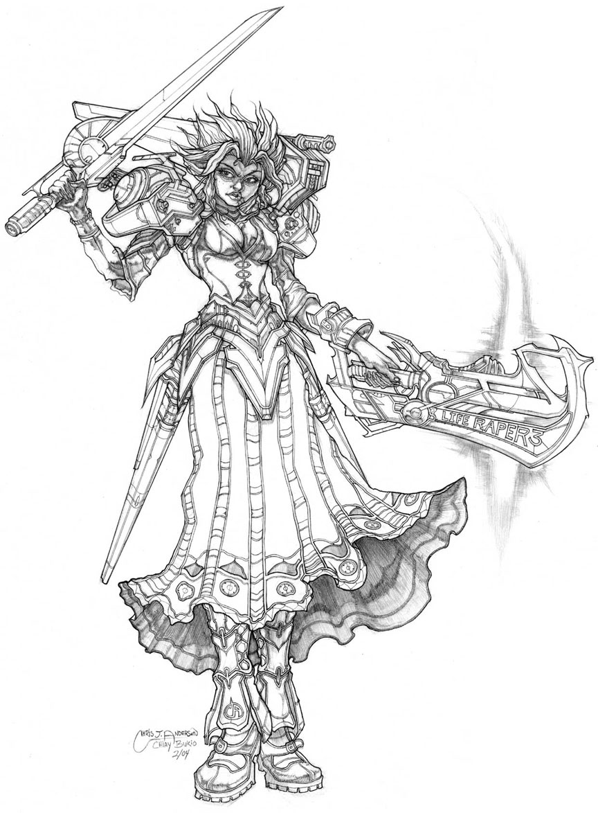 Spectrum & Expose Illustration & Character Concepts & Sketches/Mech UPDATE 3/5/04